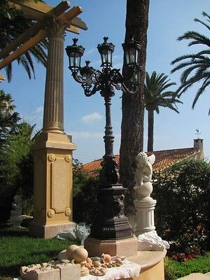 5 Arm Victorian Style 10Ft. Cast Iron Street Lights - Hbr522