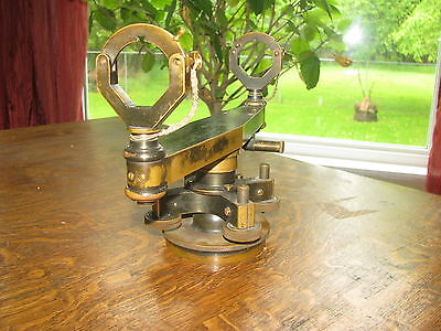 Antique Keuffel & Esser antique brass transit bracket