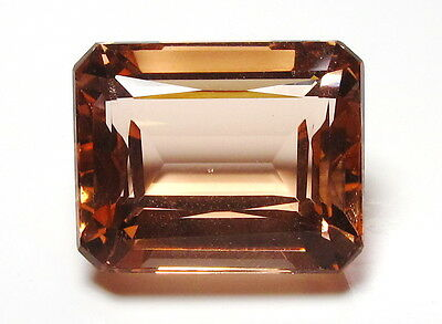 Peach Morganite 13.5 Cts Octagon 13x16 mm Loose Gemstone Top For Ring Jewelry
