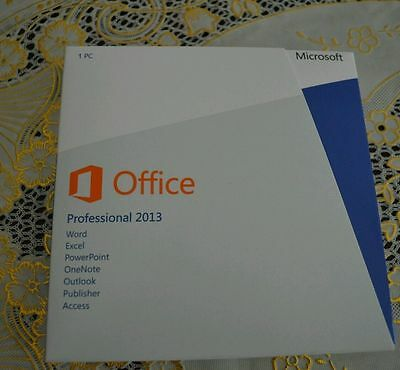 MICROSOFT Office Professional 2013 DVD (Product Key Card) Brand New
