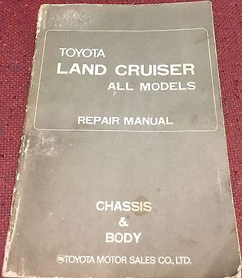 Toyota Land Cruiser FJ40, 43, 45, 55 All Models Chassis And Body Repair Manual