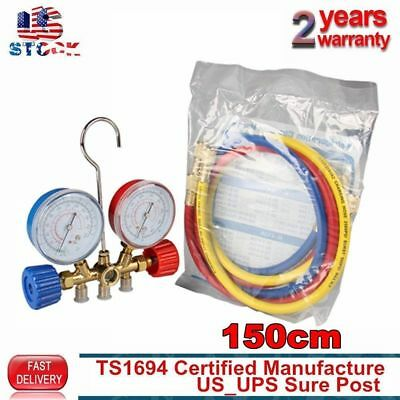 Brand New R134a R12 R22 Manifold Gauge Set HVAC AC Refrigeration Test