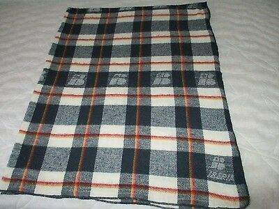 vintage IBERIA AIRLINES SPAIN cabin blanket plaid design by PADUANA logo