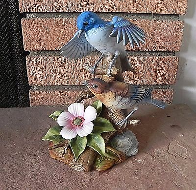 MOUNTAIN BLUEBIRDS by ANDREA #6890 Made in Japan 1983 RARE