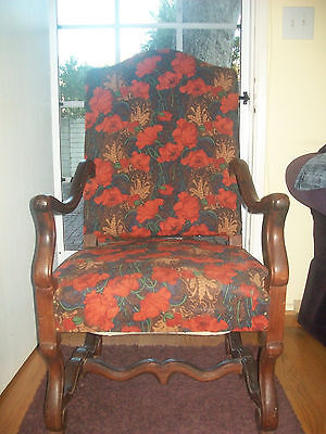 19TH  CENTURY  FRENCH ARMCHAIR - Large Throne Chair