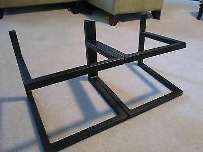 Large steel speaker stands  A&M (set of 2) 14w x 11d x 10.75tall, sandpacked