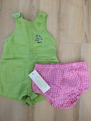 Baby Girl Esprit Overalls Sz 3 Months. New 4 Little Ducks Nappy Cover.