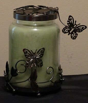 Yankee Candle Butterfly Garden Jar Candle Topper & Holder New in box Illuma-lid