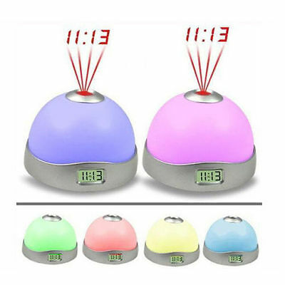New Change Color LED Magic Digital Projection Alarm Clock