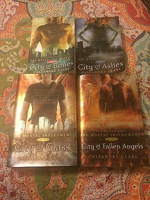 The Mortal Instruments By Cassandra Clare Books 1,2,3,&4 Lot Of 4 Nice Condition