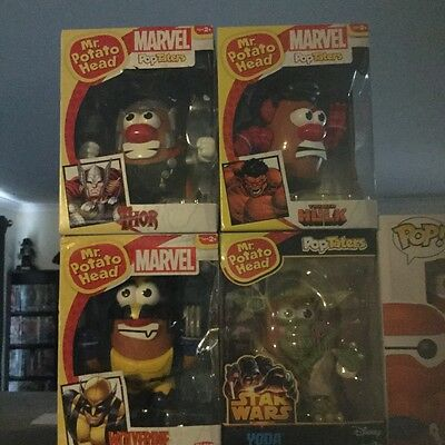 Mr Potoato Head Pop Taters Collection Set Of 4