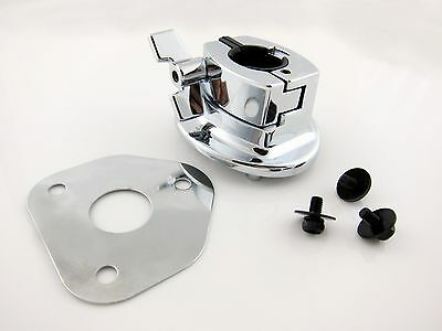 Bass Drum Tom Mount Bracket with Screws and Base Plate for Drum Shell 9~12mm