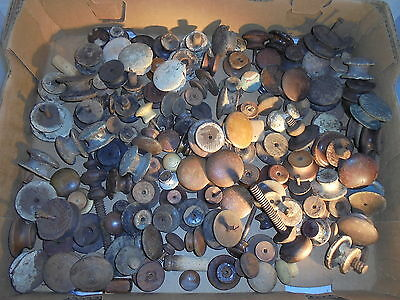 Antique vintage Victorian wood drawer pulls knobs large mixed lot of 145