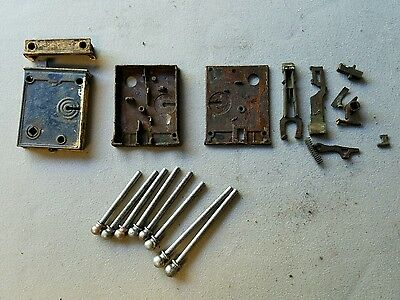 Antique Skeleton Key Door Lock w/door pins