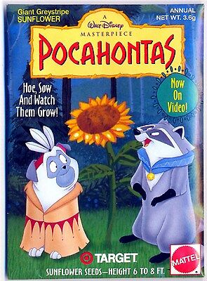 Pocahontas - Promo Sunflower Seed Pkg. From Target Stores - New - 1996