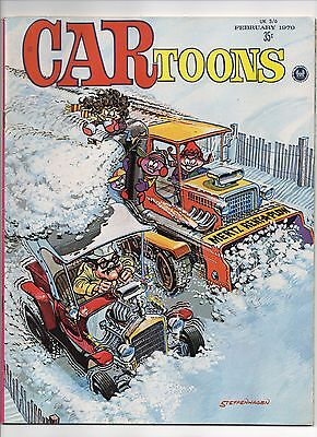 CARtoons comic book from February 1970  drag racing, hot rods magazine