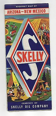 Vintage 1950s Skelly Oil map of Arizona and New Mexico