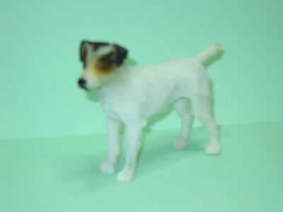 "Jack Russell Terrier Dog Figurine, 3"" X 4"", Hand Painted"