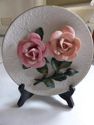 The Franklin Mint 'the Roses Of Capodimonte' Limited Edition Plate & Free Gift