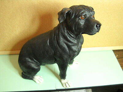 """American Staffordshire Terrier, 11"""" to 12"""", Hand Painted Dog Figurine"""