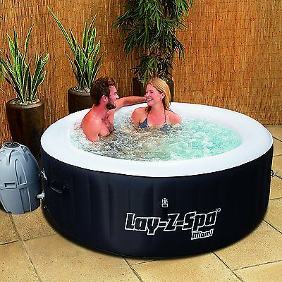SALE !!! Lay-Z-Spa Miami Inflatable Portable Hot Tub Spa, 2-4 Person LAST ONE!