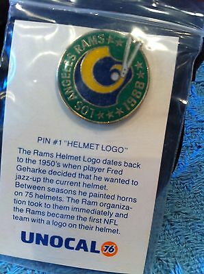 New Unocal Los Angeles Rams Pin #1