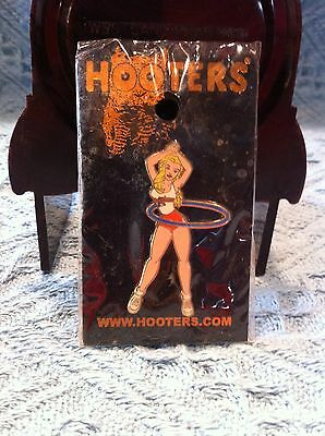 New Hooters Girl With Blue Hula Hoop Lapel Pin