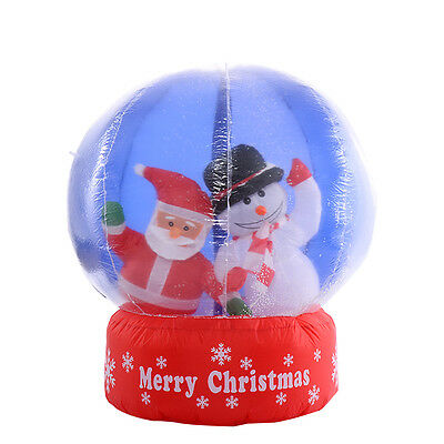 Christmas Inflatable Snow Globe Ball Santa Xmas Home Outdoor Decoration 1.2M