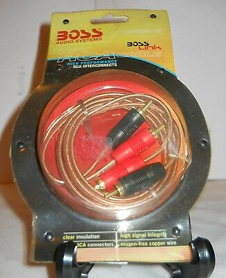 Boss Audio Systems 3Ft Rca Cable, High Performance Rca Interconnects Crca-3, Nip