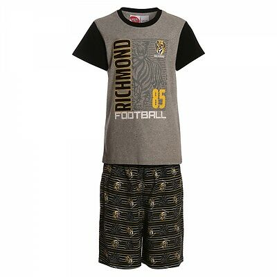 Richmond Tigers Official AFL Summer Youth Pyjamas Cotton Boxers TShirt