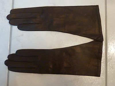 Vintage NEW France Saks Fifth Avenue LEATHER Gloves 100% SILK Lining Size 7 1/2
