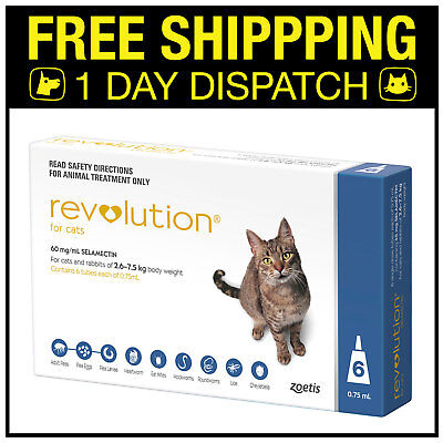 Revolution For Cats 2.6-7.5kg Blue 6 Pack