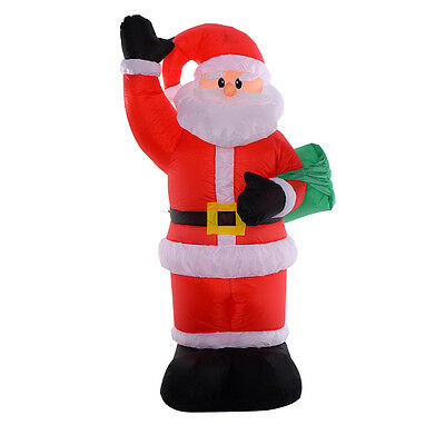 2.4M Inflatable Santa Claus Christmas Home Garden Decoration LED Lighted Gift