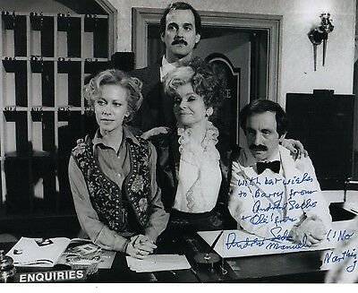 Andrew Sachs Signed 10-8  Photo