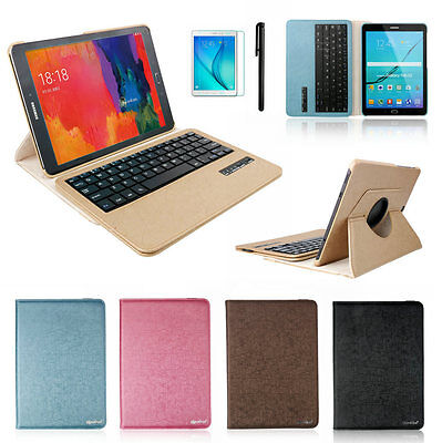 """360 Rotating Bluetooth Keyboard Leather Case For Samsung Galaxy Tab S2 9.7"""" T810"""