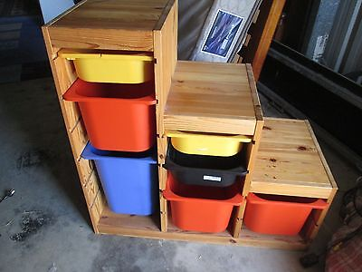 Childrens Storage toybox with plastic drawers