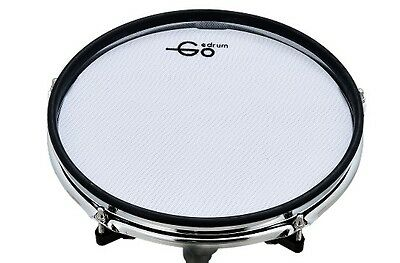 "Goedrum 10"" Electronic Drum Pad with Rim Silencer / Dual Triggers / Mesh Head"