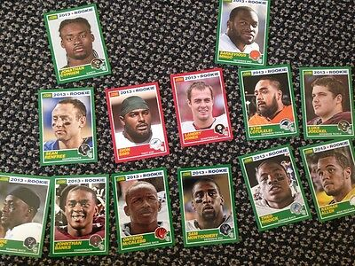 2013 score NFL cards
