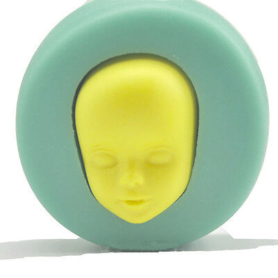 New 3D Baby Face Design Mold Silicone Cake Chocolate Fondant Mold Baking Tool