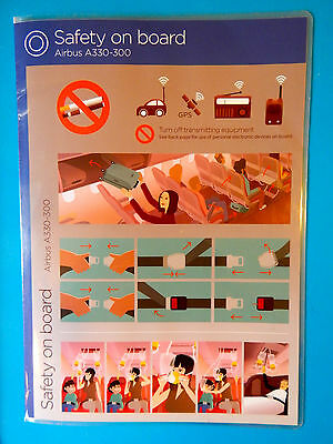 Virgin Atlantic Airlines Safety Card--Airbus 330-300--New Edition!!!
