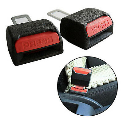 1 Pair Black Metal Car Safety Belt Hanging Buckle Vehicle Safety Insert Buckle