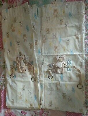Mothercare 'please look after me' NEW curtains & tiebacks.