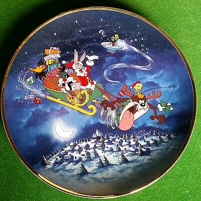 "LOONEY TUNES "" WHATS UP SANTA "" Ltd Edition 1993 Collecters Plate."