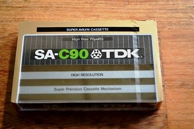 TDK SA-C90 - HIGH BIAS 70psEQ CASSETTE  TAPE - VINTAGE - SEALED
