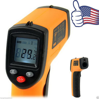 Non-Contact LCD IR Infrared Laser  Temperature Thermometer Gun Point PQX #&