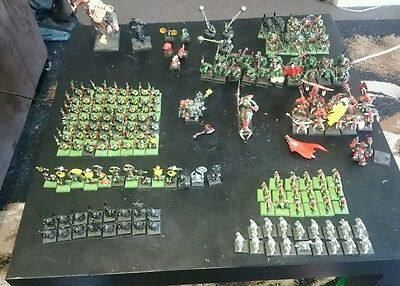 warhammer fantasy orcs and goblins army with giant