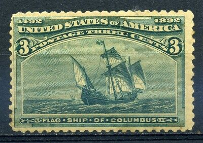 Stamp USA Columbus 1892 3c, Sc232, MH, combine shipping 15
