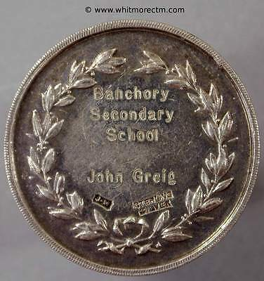 Banchory Aberdeenshire Secondary School Silver Medal 33mm for English 1939 XZ047