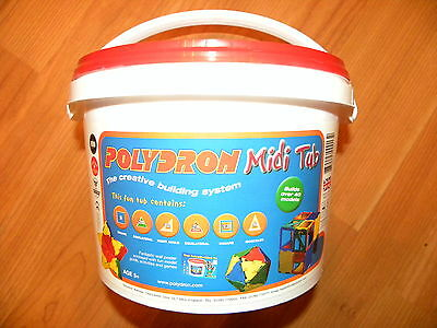 POLYDRON Midi Tub fantastic 80 piece set. The educational construction toy!