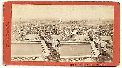 Massachusetts Stereoview Boston From the State House